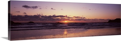 Ocean at sunset Bandon Beach Bandon Coos County Oregon