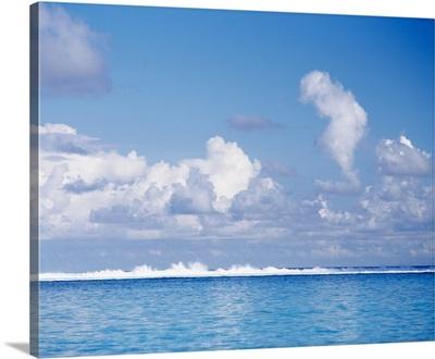 Ocean Wave Tahiti French Polynesia