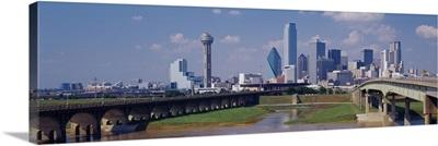 Office buildings in a city, Dallas, Texas