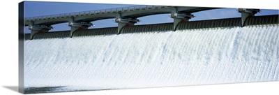 Ohio, Columbus, Big Walnut Creek, Low angle view of a Dam