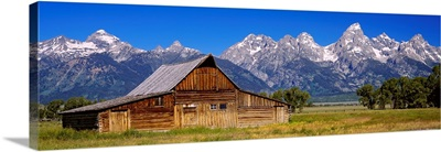Old barn on a landscape, Grand Teton National Park, Wyoming
