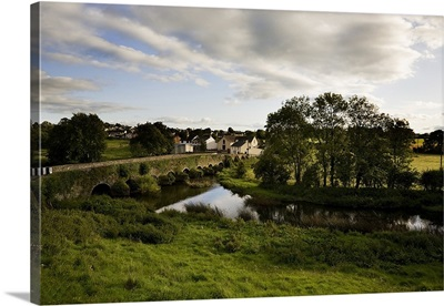 Old Bridge over the Kings River, and Kells Village, County Kilkenny, Ireland
