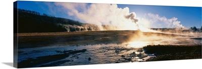 Old Faithful Geyser Yellowstone National Park WY