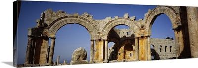 Old ruins of a church, St. Simeon Church, Aleppo, Syria