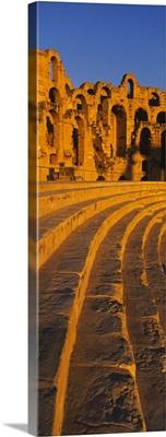 Old ruins of an amphitheater, Roman Theater, El Djem, Mahdia Governorate, Tunisia