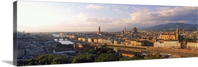 Panoramic overview of Florence from Piazzale Michelangelo, Tuscany, Italy
