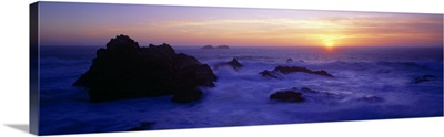 Panoramic view of the ocean, Monterey County, Big Sur, California