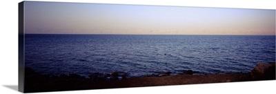Panoramic view of the sea, Dead Sea, Jordan