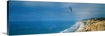 Paragliders over the coast La Jolla San Diego California