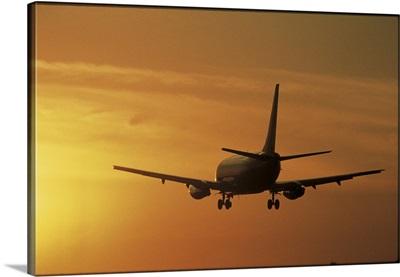 Passenger Plane Taking Off LAX Airport Los Angeles CA