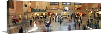 Passengers at a railroad station, Grand Central station, Manhattan, New York City, New York State