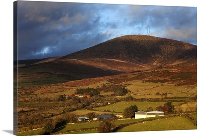 Pastoral countryside on the slopes of Mount Leinster, Ireland