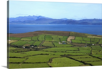 Pastoral Countyside Overlooking Dingle Bay and the Distant Ring of Kerry, Ireland