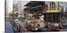 People celebrating Mardi Gras festival, New Orleans, Louisiana,