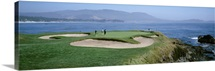 People playing golf at a golf course, Pebble Beach Golf Links, Pebble Beach, California
