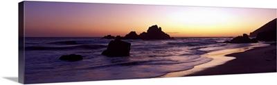 Pfeiffer Beach sunset Big Sur CA