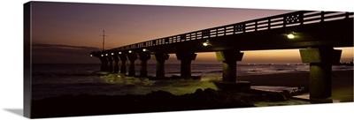 Pier at sunrise, Shark Rock Pier, Hobie Beach, Port Elizabeth, Eastern Cape Province, Republic of South Africa