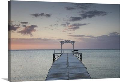 Pier at the coast, Dinarobin Hotel, Le Morne Brabant, Mauritius