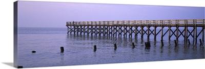 Pier in a river, Port Mahon Fishing Pier, Port Mahon, Delaware River, Delaware
