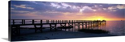 Pier on the beach, Crystal Beach, Florida