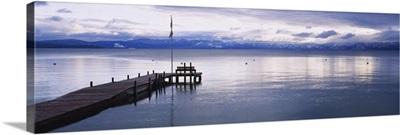 Pier on the water, Lake Tahoe, California