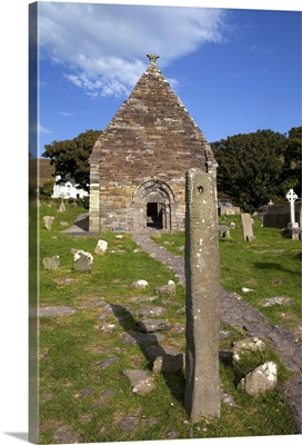Pierced Ogham Stone, 12th Century Kilmalkedar Church, Dingle Peninsula, Ireland