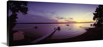 Piers on the bay Old Mission Peninsula Grand Traverse Bay Grand Traverse County Michigan
