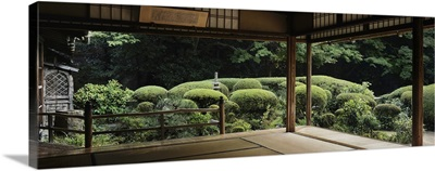 Plants and trees viewed from a temple, Shisendo Temple, Kyoto City, Kyoto Prefecture, Japan