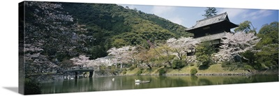 Pond in front of a building, Iwakuni, Japan