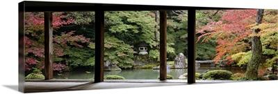 Porch of a temple, Renge-ji Temple, Kyoto, Japan