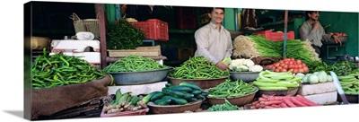 Portrait of a grocer, Nagaur, Rajasthan, India