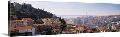 Portugal, Lisbon, High angle view of a city