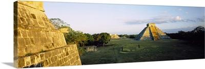 Pyramids at an archaeological site, Chichen Itza, Yucatan, Mexico
