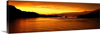 Raftsundet Bridge at Sunset Lofoten Islands Norway
