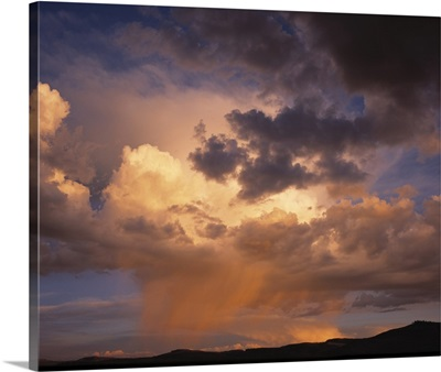 Rain and storm clouds over Colorado on a summer's evening