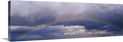 Rainbow against clouds, Pinon Hills, California