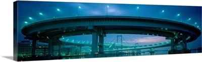 Rainbow Bridge and Daiba Line Tokyo Japan