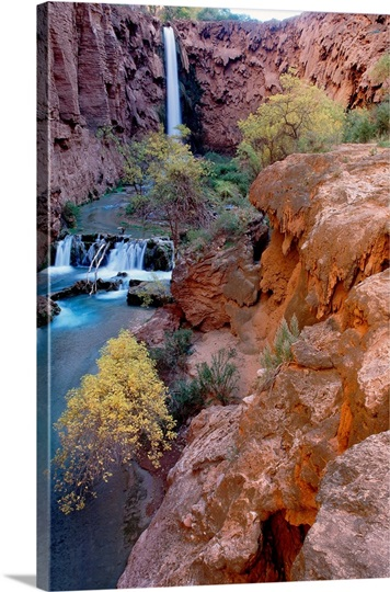 Red rock cliffs, Havasu Falls, Grand Canyon National Park, Arizona