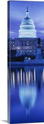 Reflection of a government building on water, Capitol Building, Washington DC