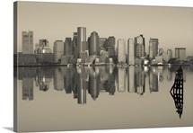 Reflection of buildings in water, Boston, Massachusetts