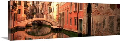 Reflection of buildings in water, Venice, Italy