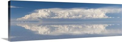 Reflection of clouds in a lake, Salar de Uyuni, Uyuni, Bolivia