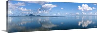 Reflection of clouds on water, Bora Bora, French Polynesia