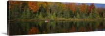 Reflection of trees in water, near Antigo, Wisconsin