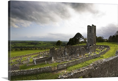 Remains of the Church on St Patricks Hill, Slane, Co Meath, Ireland