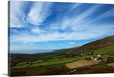 Ring of Kerry Coastline and Fields near Ballinskelligs, County Kerry, Ireland