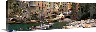 Riomaggiore Harbor Cinqueterre Italy