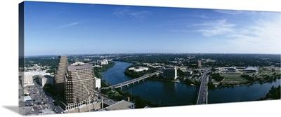 River passing through a city, Austin, Texas