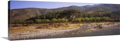 River passing through a landscape, Paro, Bhutan
