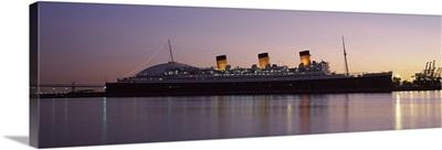RMS Queen Mary in an ocean, Long Beach, Los Angeles County, California